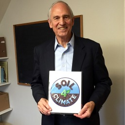 Professor William Moomaw w Soil4Climate Sign