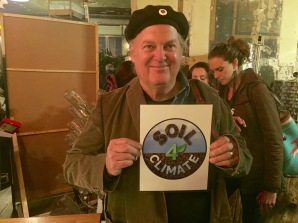 Ronnie Cummins with Soil4Climate Logo